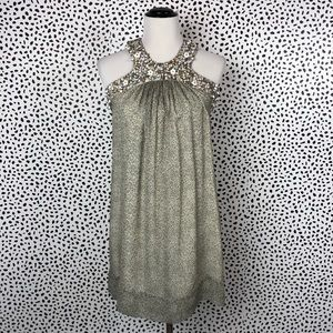 French Connection Silk Print Halter Dress Size 6